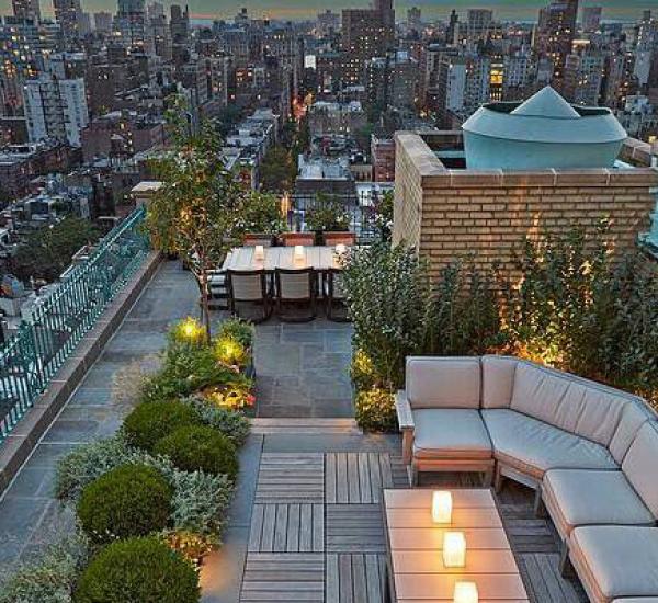 屋顶花园家具素材05