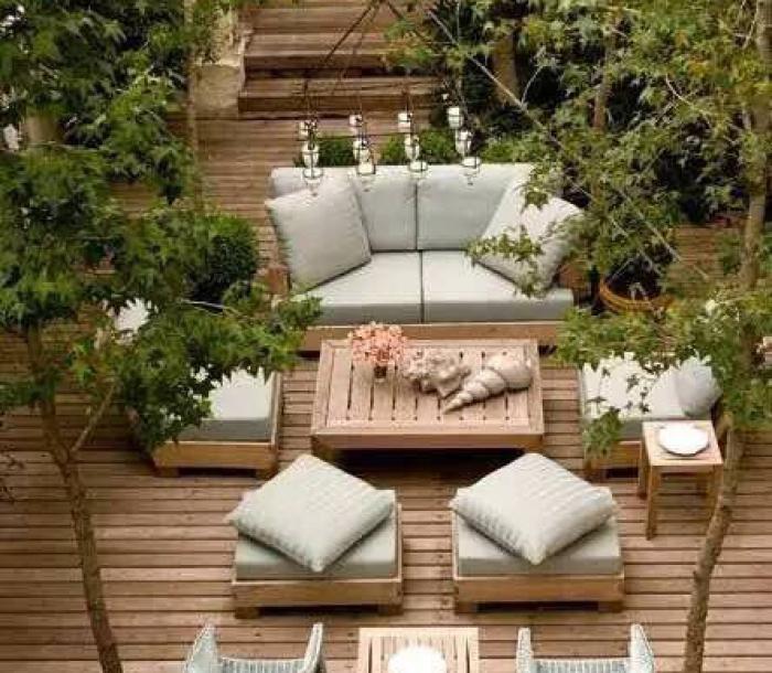 屋顶花园家具素材09